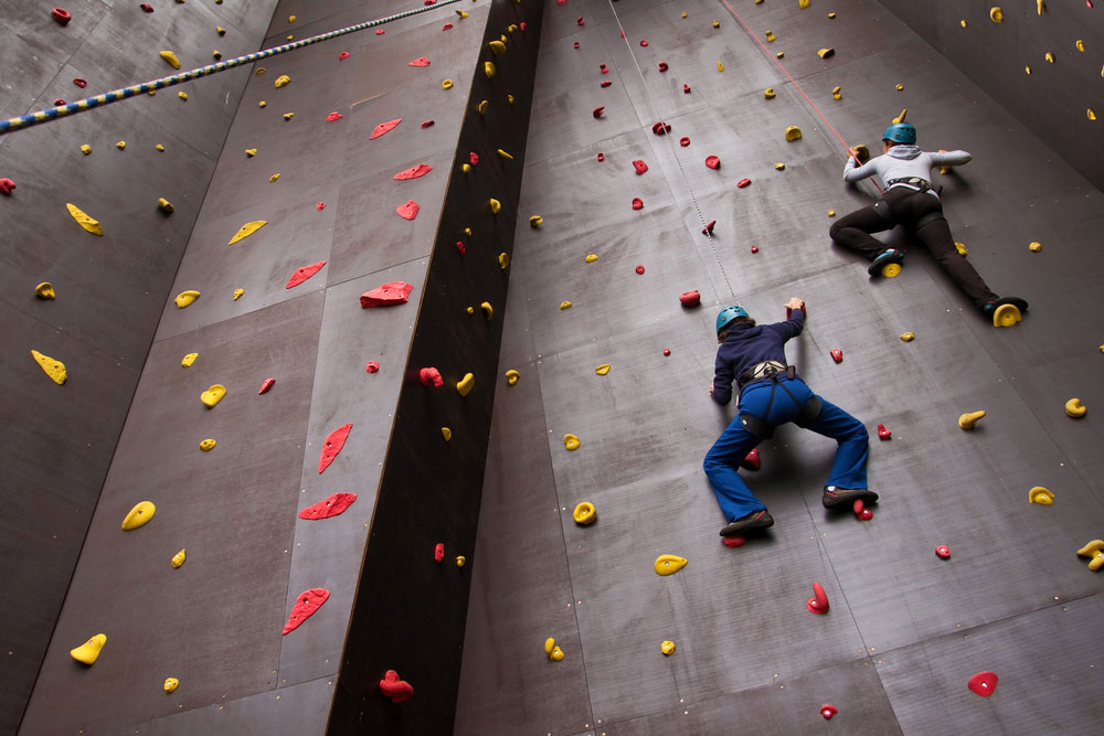 Two indoor climbers